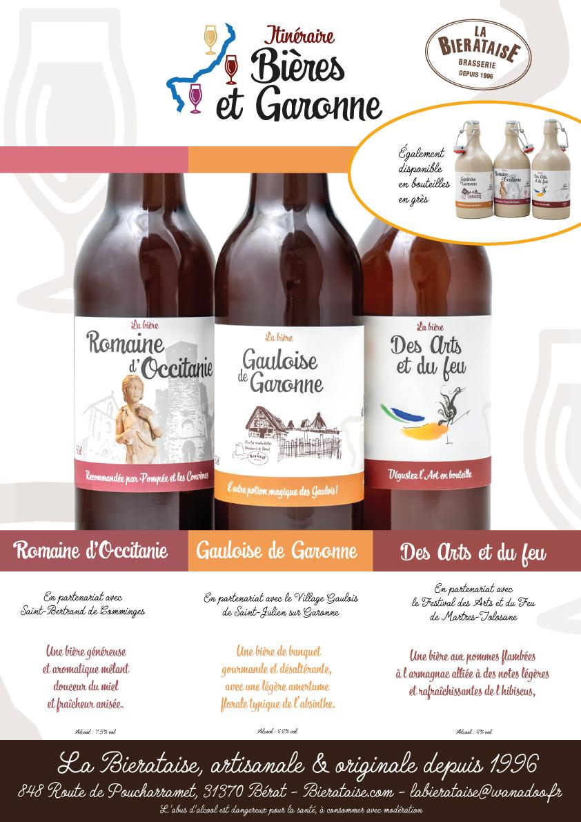 Gamme de bières touristiques Itinéraire Bières et Garonne